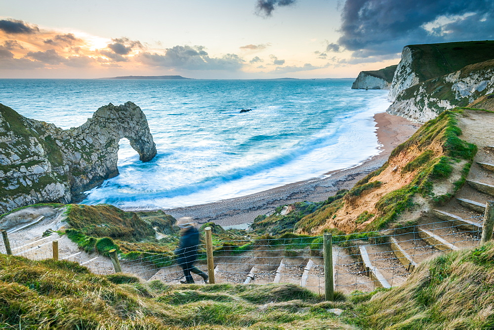 Durdle Door, Jurassic Coast, UNESCO World Heritage Site, Dorset, England, United Kingdom, Europe - 1199-383