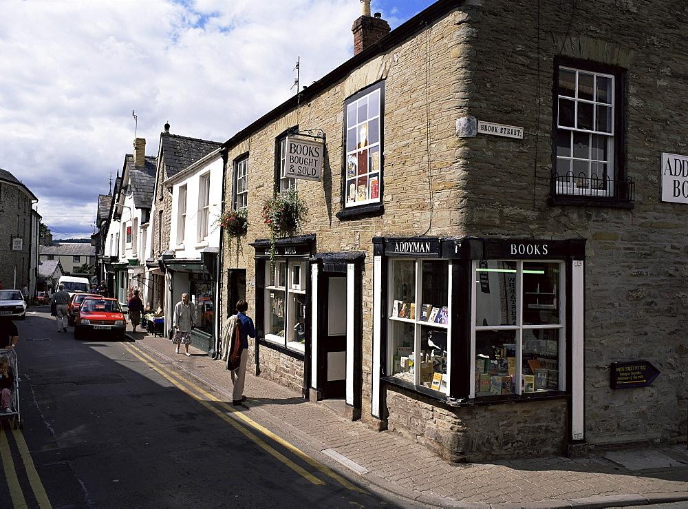Second-hand bookshop, Hay-on-Wye, Powys, Wales, United Kingdom, Europe