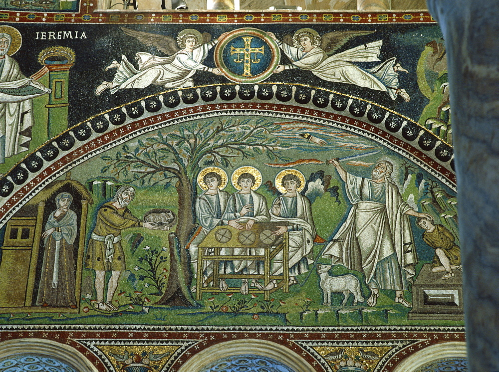 The 6th century mosaics in the Basilica of San Vitale, Ravenna, UNESCO World Heritage Site, Emilia-Romagna, Italy, Europe - 120-4481