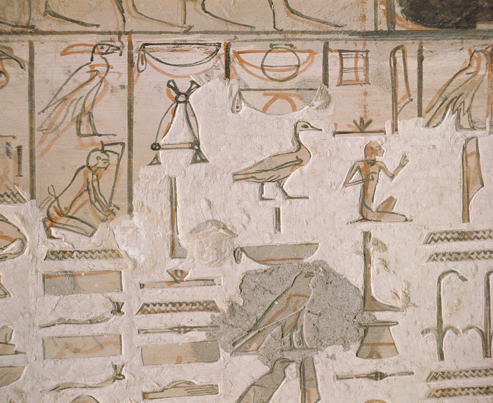 Tomb of Horemheb, Valley of the Kings, Thebes, UNESCO World Heritage Site, Egypt, North Africa, Africa