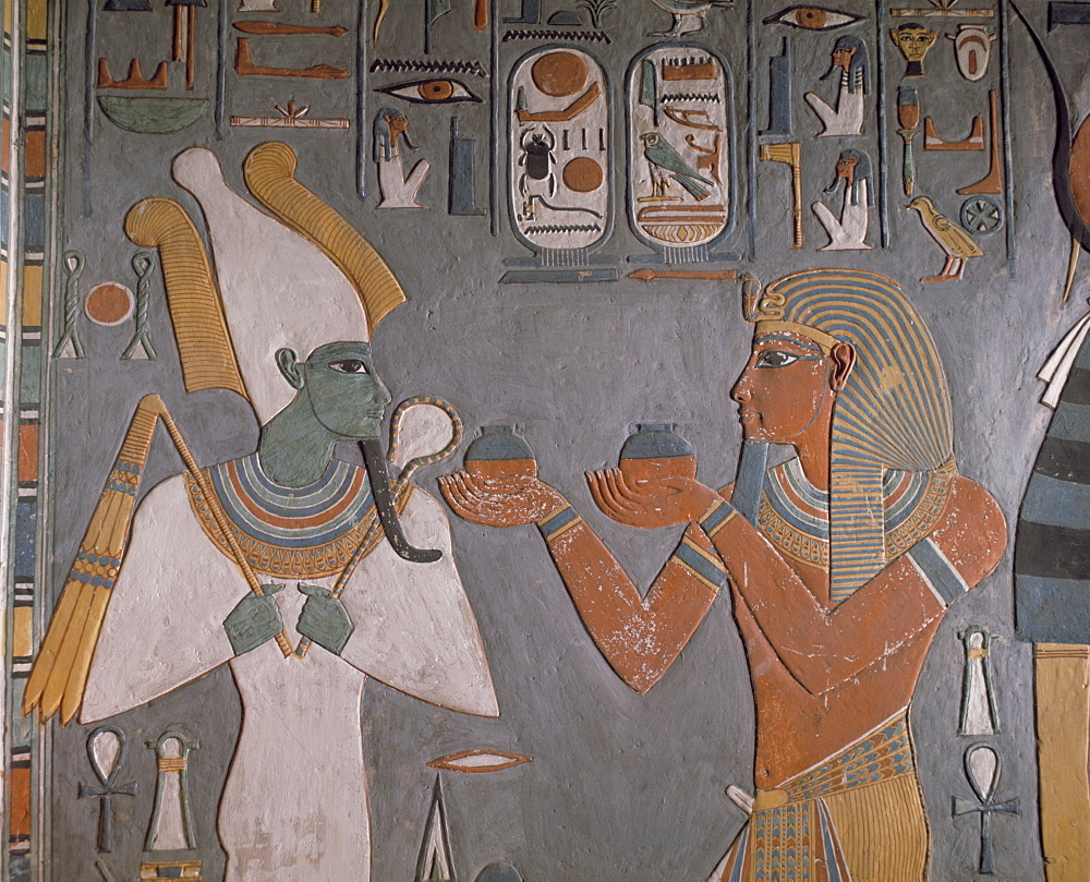 Tomb of Horemheb, Valley of the Kings, Thebes, UNESCO World Heritage Site, Egypt, North Africa