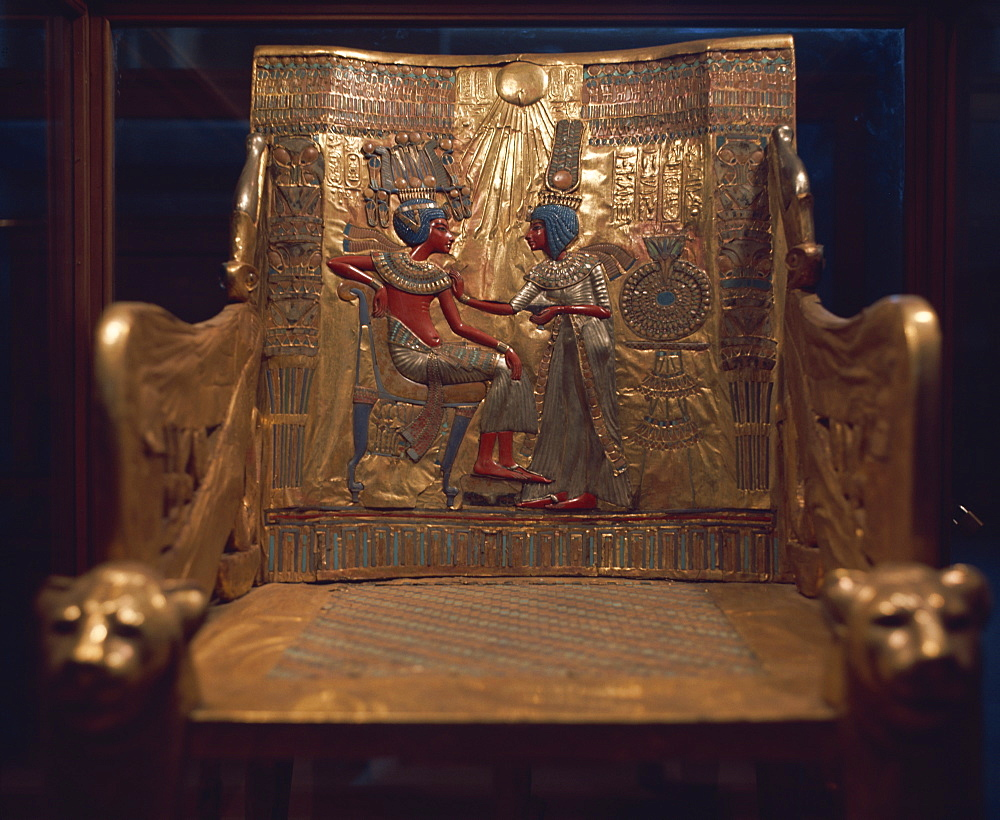 Tutankhamun's throne, Egypt, North Africa, Africa
