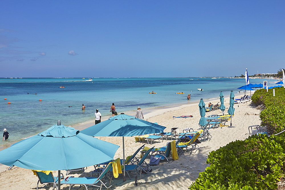 A view of Grace Bay at the Coral Garden Resort and Somewhere Restaurant, Providenciales, Turks and Caicos, in the Caribbean.