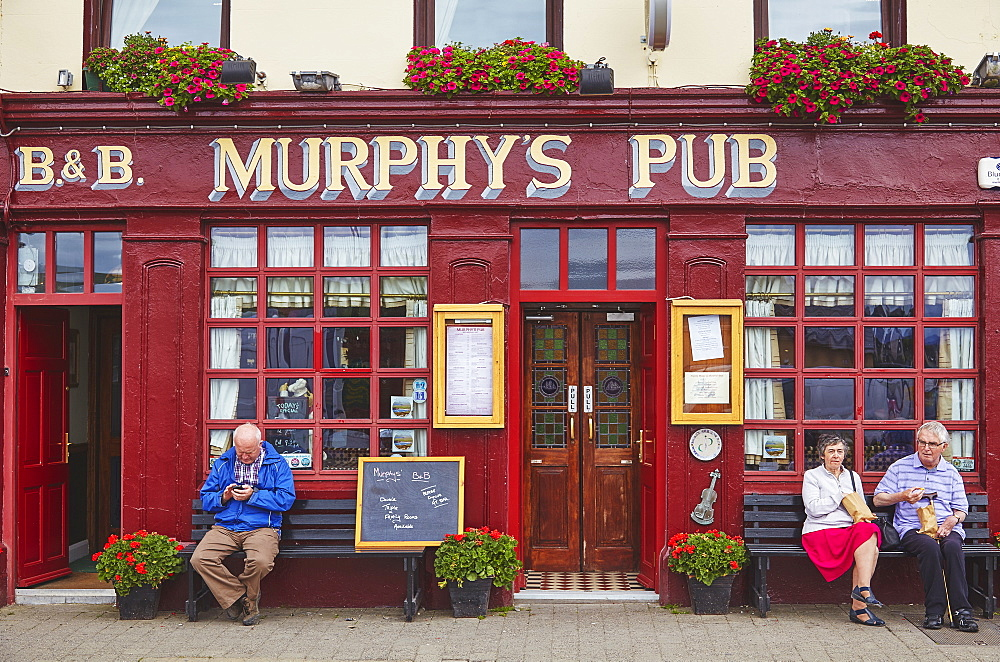 A pub front, Dingle town, County Kerry, Ireland.