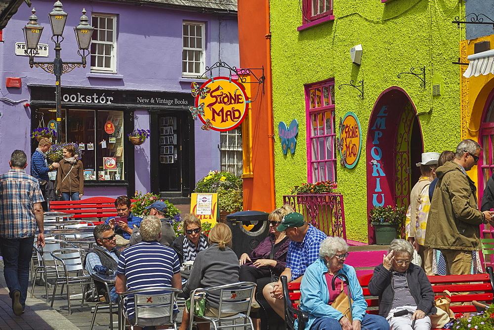 Street scene in Kinsale, County Cork, Munster, Republic of Ireland, Europe - 1202-75