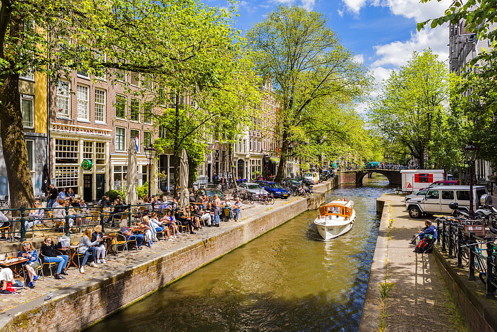 Boat on the Prinsengracht canal, Amsterdam, Netherlands - 1207-100