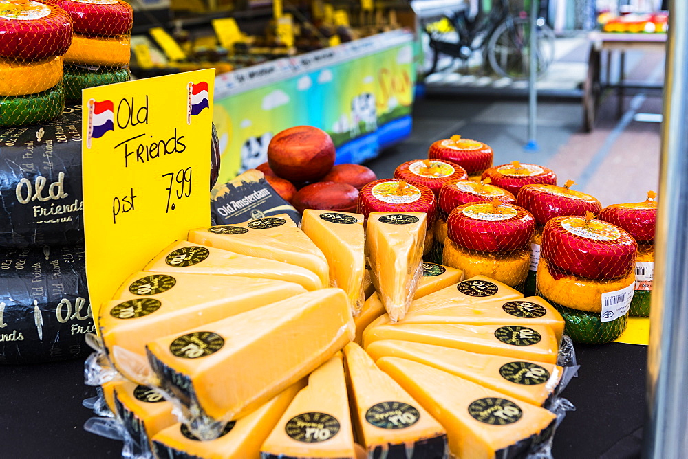 Cheese for sale in Albert Cuyp Market, Amsterdam, Netherlands, Europe