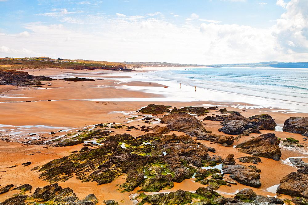 Beach, Gwithian, Cornwall, England, United Kingdom, Europe - 1207-18