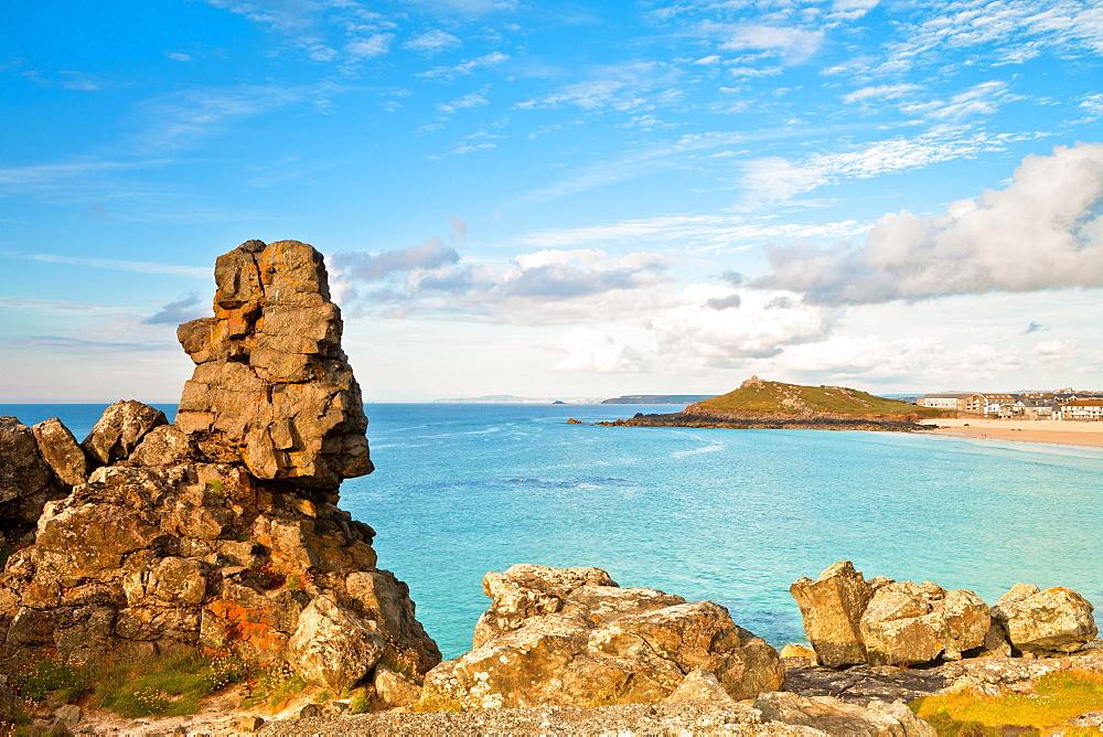 Porthmeor Beach, The Island, St. Ives, Cornwall, England, United Kingdom, Europe - 1207-20