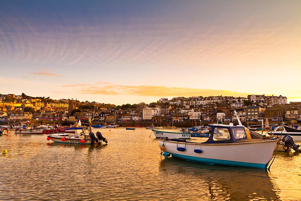 Sunset, St. Ives, Cornwall, England, United Kingdom, Europe