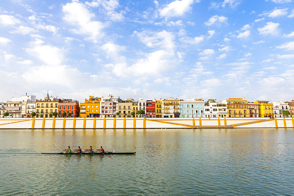 Triana district and the river Rio Guadalquivir, Seville, Andalusia, Spain, Europe - 1207-233