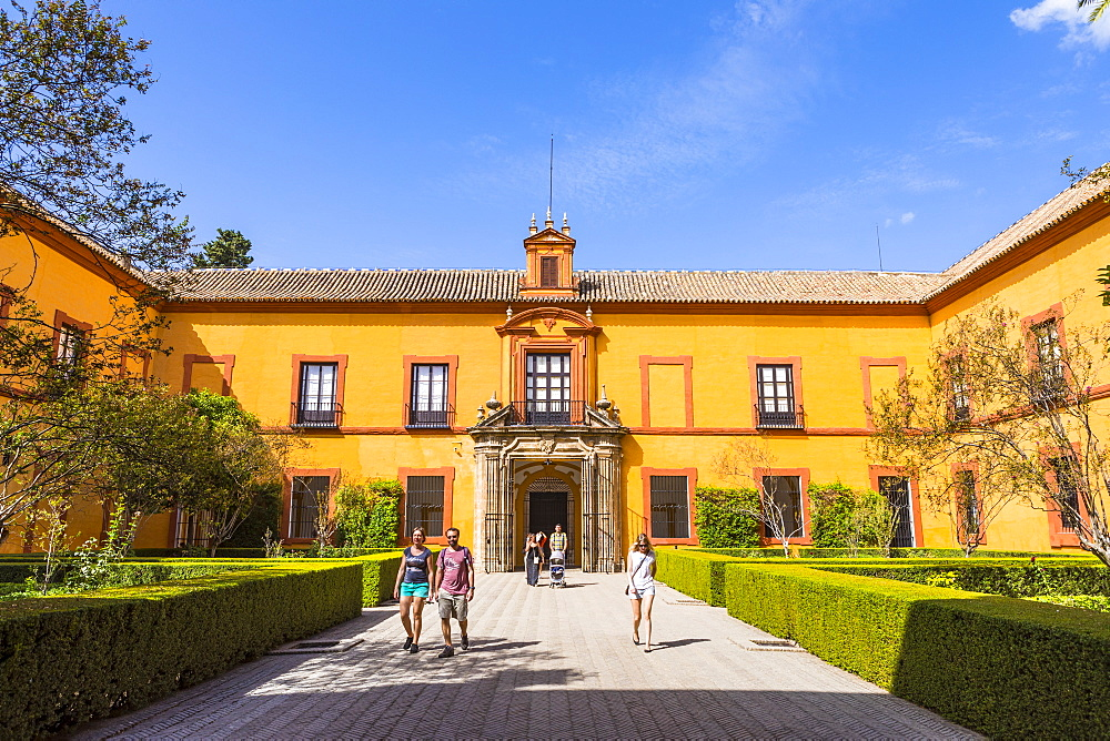 Real Alcazar, UNESCO World Heritage Site, Santa Cruz district, Seville, Andalusia (Andalucia), Spain, Europe
