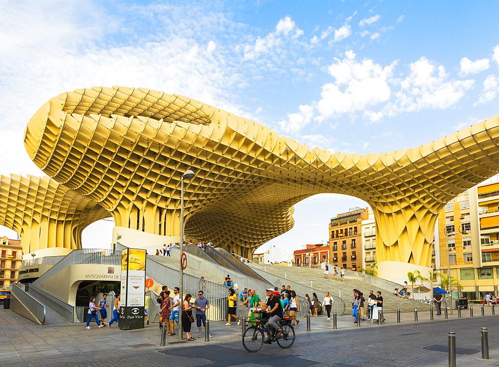Metropol Parasol designed by the German architect Jürgen Mayer, Seville, Andalucia, Spain, Europe