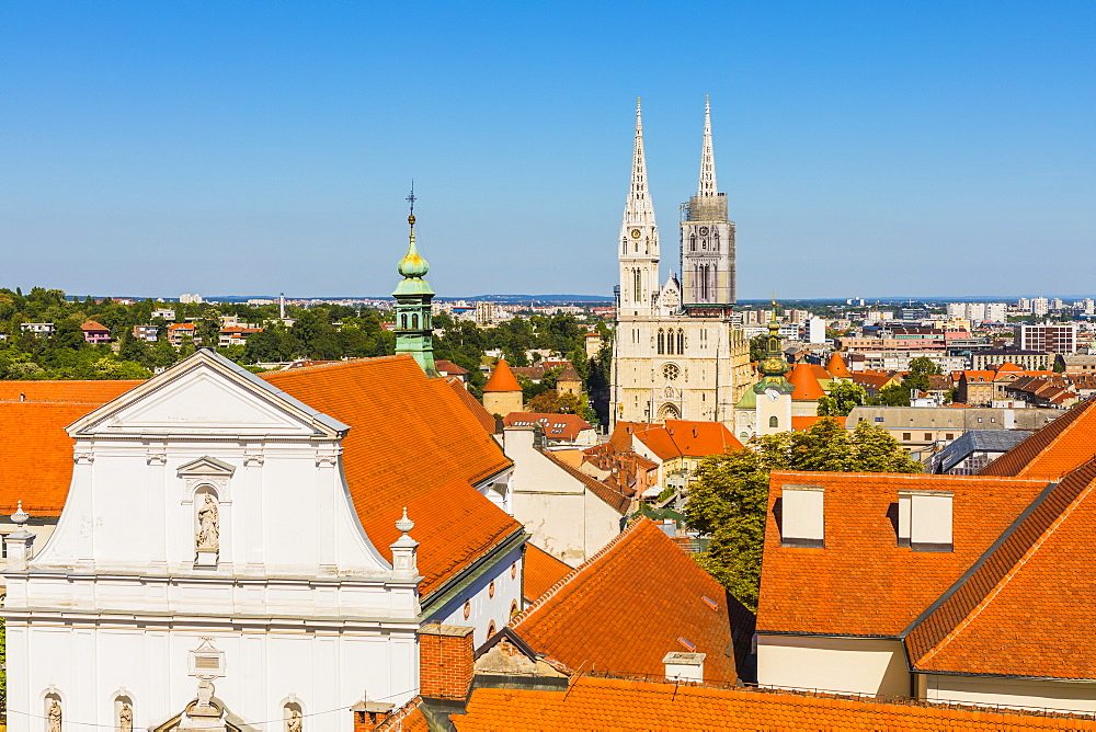 View of Cathedral of the Assumption Blessed Virgin Mary, Zagreb, Croatia, Europe - 1207-257