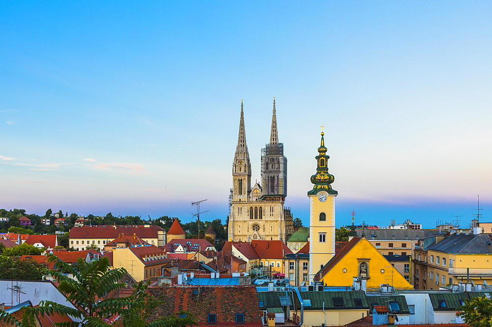 View of Cathedral of the Assumption Blessed Virgin Mary, Zagreb, Croatia, Europe - 1207-268