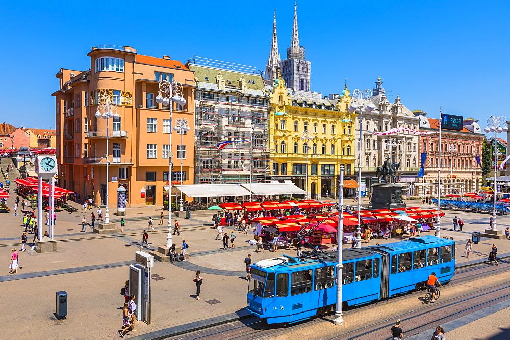 View of Ban Jelacic Square, Zagreb, Croatia, Europe - 1207-288