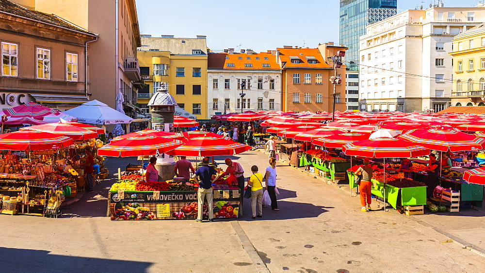 Dolac, market square, Zagreb, Croatia, Europe - 1207-303