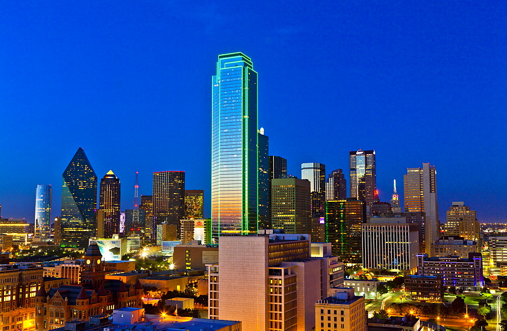 Skyline, Dallas, Texas, United States of America, North America - 1207-31