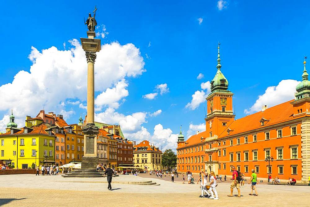 Sigismund's Column and Royal Castle in Plac Zamkowy (Castle Square), Old Town, UNESCO World Heritage Site, Warsaw, Poland, Europe - 1207-335
