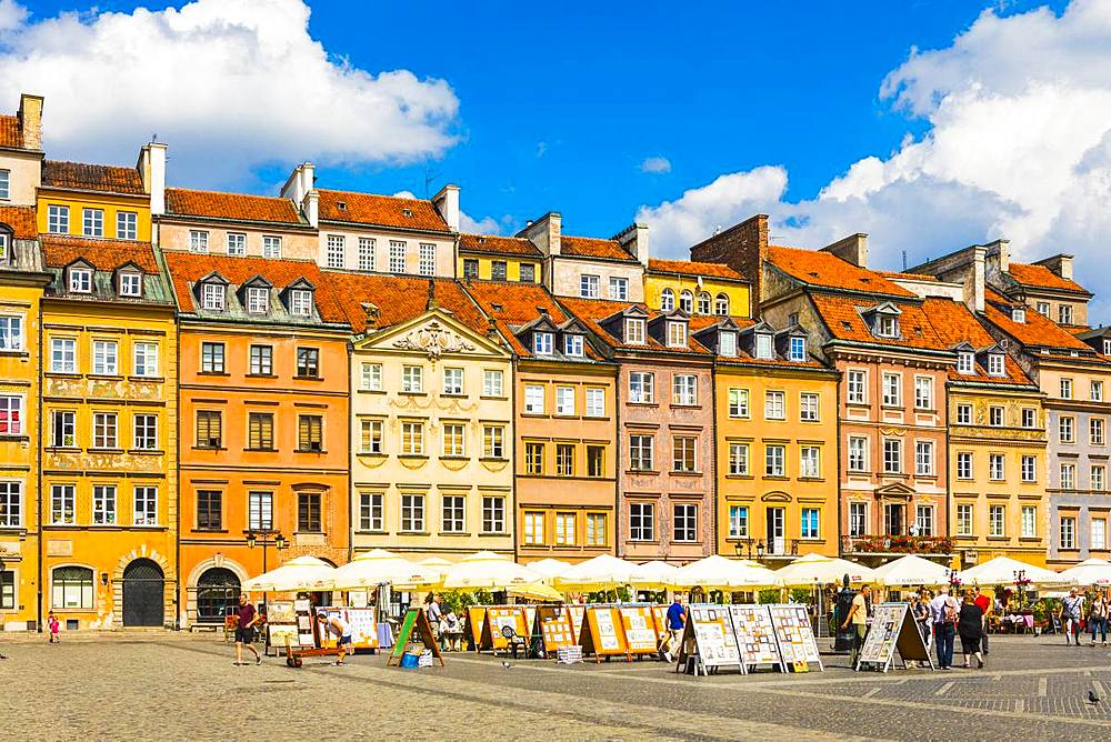 Old Town Market Square, Old Town, Warsaw, Poland, Europe