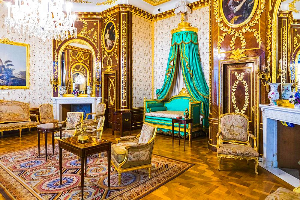 The King's Bedroom, Royal Castle in Plac Zamkowy (Castle Square), Old Town, Warsaw, Poland, Europe