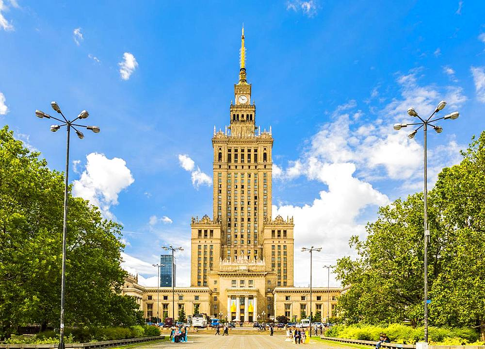 Palace of Culture and Science, City Centre, Warsaw, Poland, Europe - 1207-351