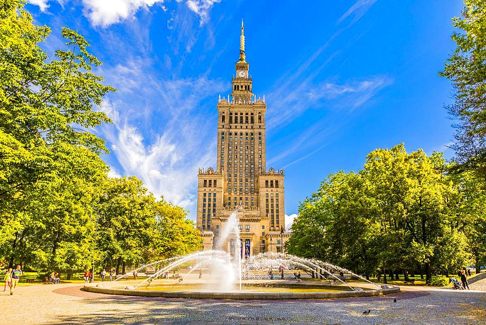 Palace of Culture and Science, City Centre, Warsaw, Poland, Europe - 1207-357