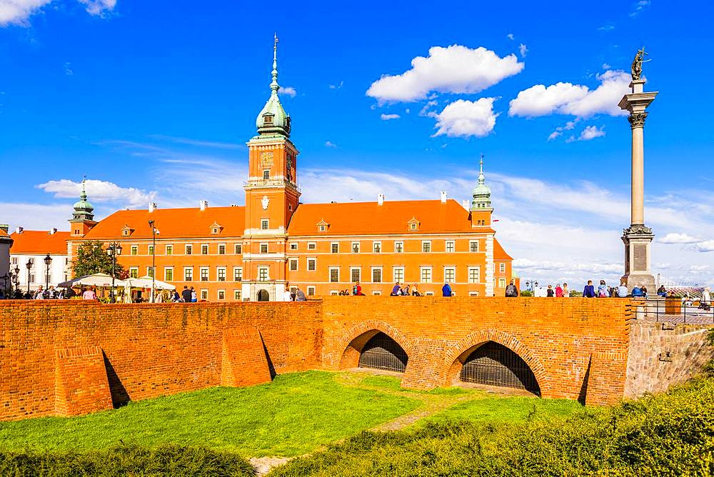 Royal Castle and Sigismund's Column in Plac Zamkowy (Castle Square), Old Town, UNESCO World Heritage Site, Warsaw, Poland, Europe - 1207-360