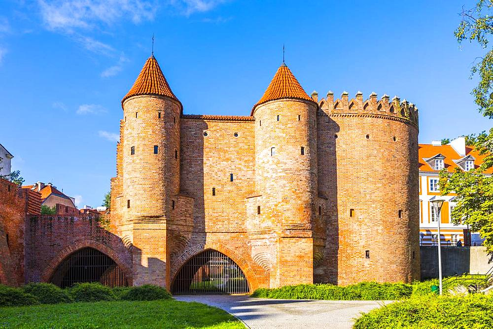 Warsaw Barbican, Old Town, UNESCO World Heritage Site, Warsaw, Poland, Europe - 1207-379