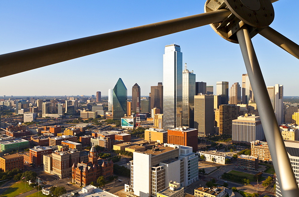 Skyline from Reunion Tower, Dallas, Texas, United States of America, North America - 1207-52