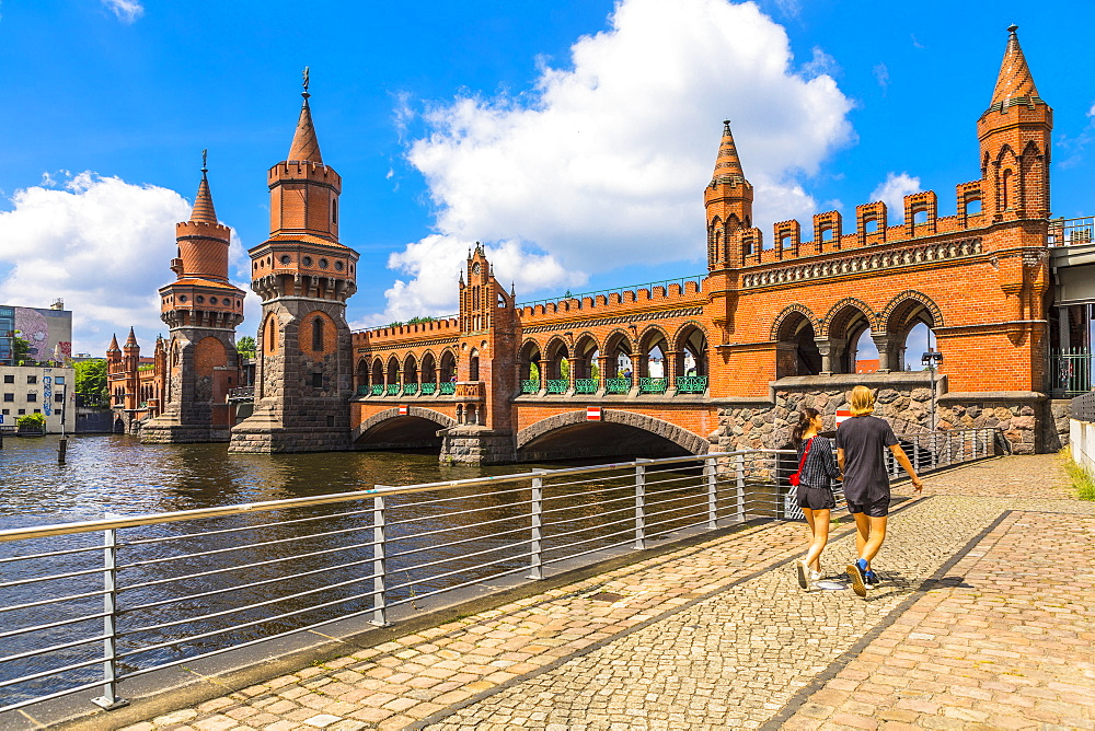 Oberbaum Bridge, Berlin, Germany, Europe - 1207-538
