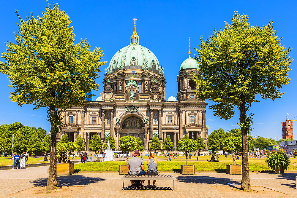Berliner Dom (Berlin Cathedral) on the River Spree, Berlin, Germany, Europe - 1207-544
