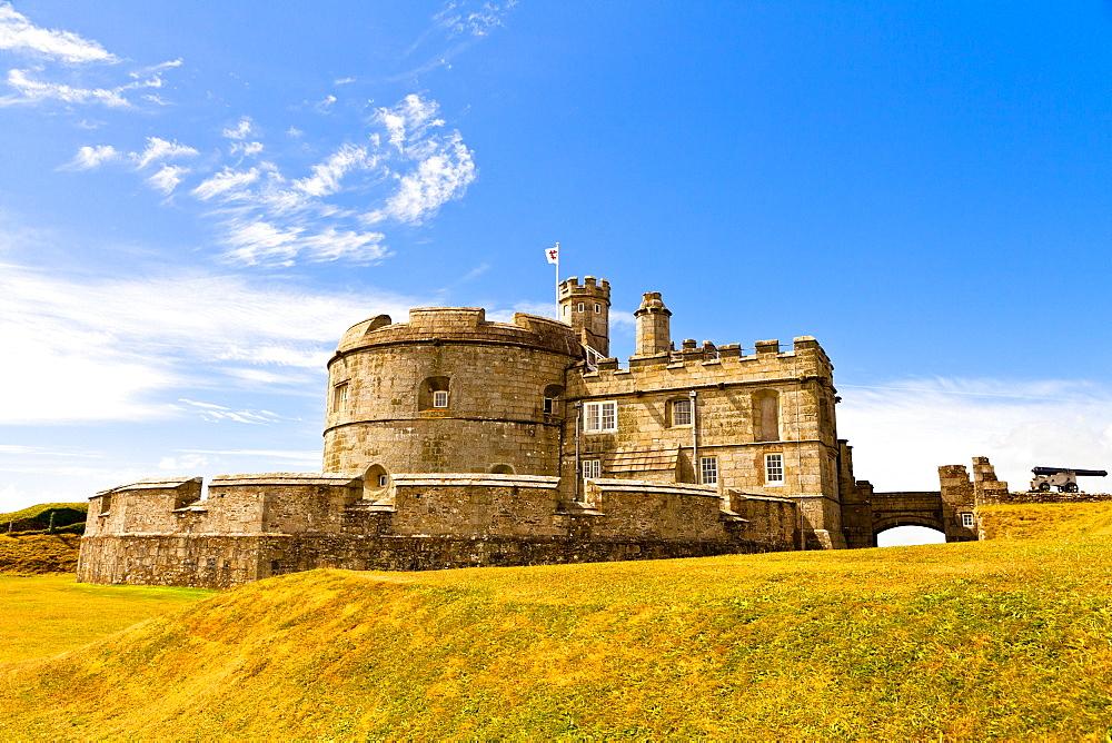 Pendents Castle, Falmouth, Cornwall, England, United Kingdom, Europe - 1207-6