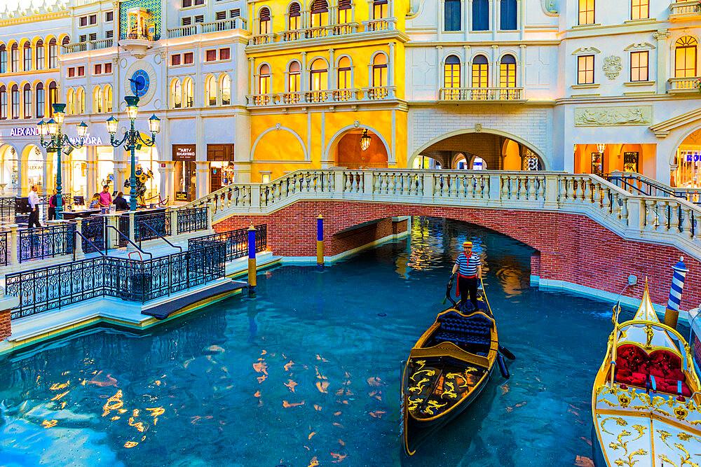 Interior of Venetian Hotel and Casino, Las Vegas, Nevada, United States of America, North America