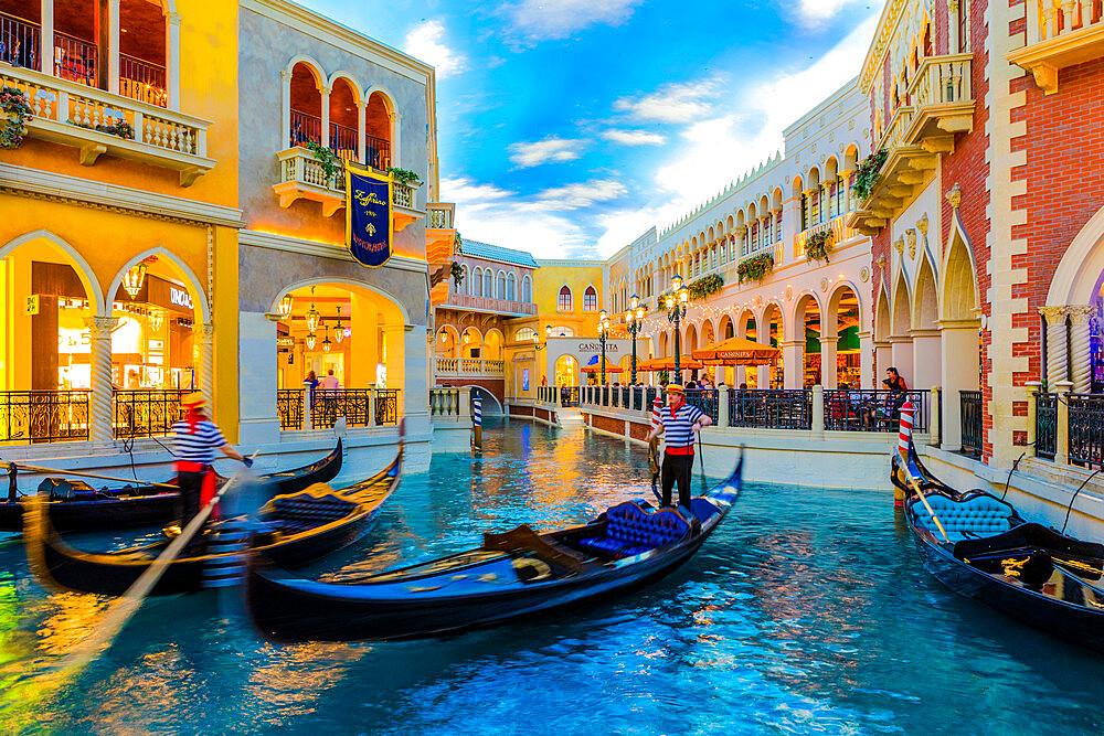 Interior of Venetian Hotel and Casino, Las Vegas, Nevada, United States of America, North America - 1207-639