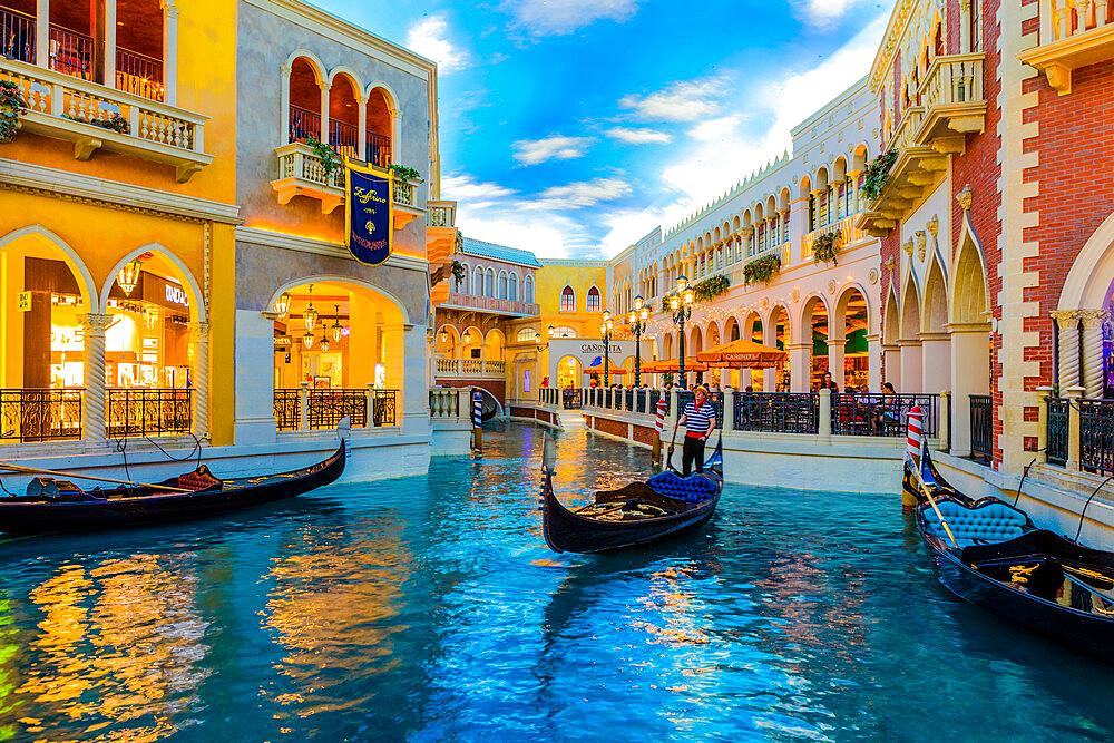 Interior of Venetian Hotel and Casino, Las Vegas, Nevada, United States of America, North America - 1207-643