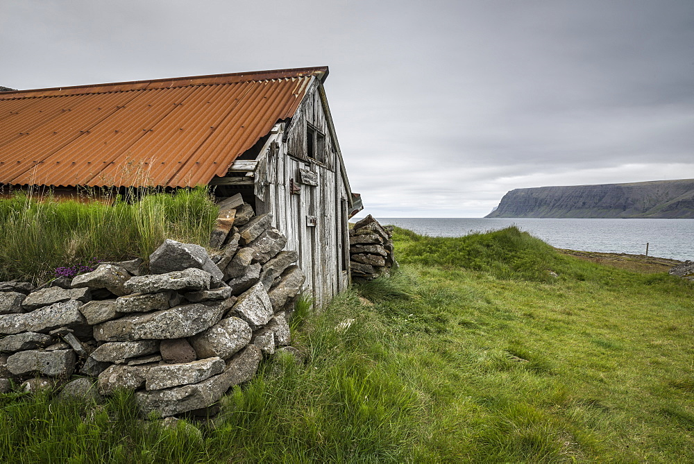 Abandoned farmhouse, Westfjords, Iceland, Polar Regions - 1209-119