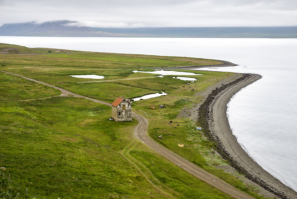 Abandoned farmhouse, Westfjords, Iceland, Polar Regions - 1209-130