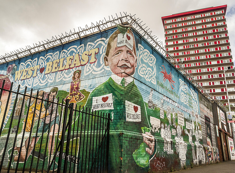 Divis Tower, Mural, Belfast - 1209-164