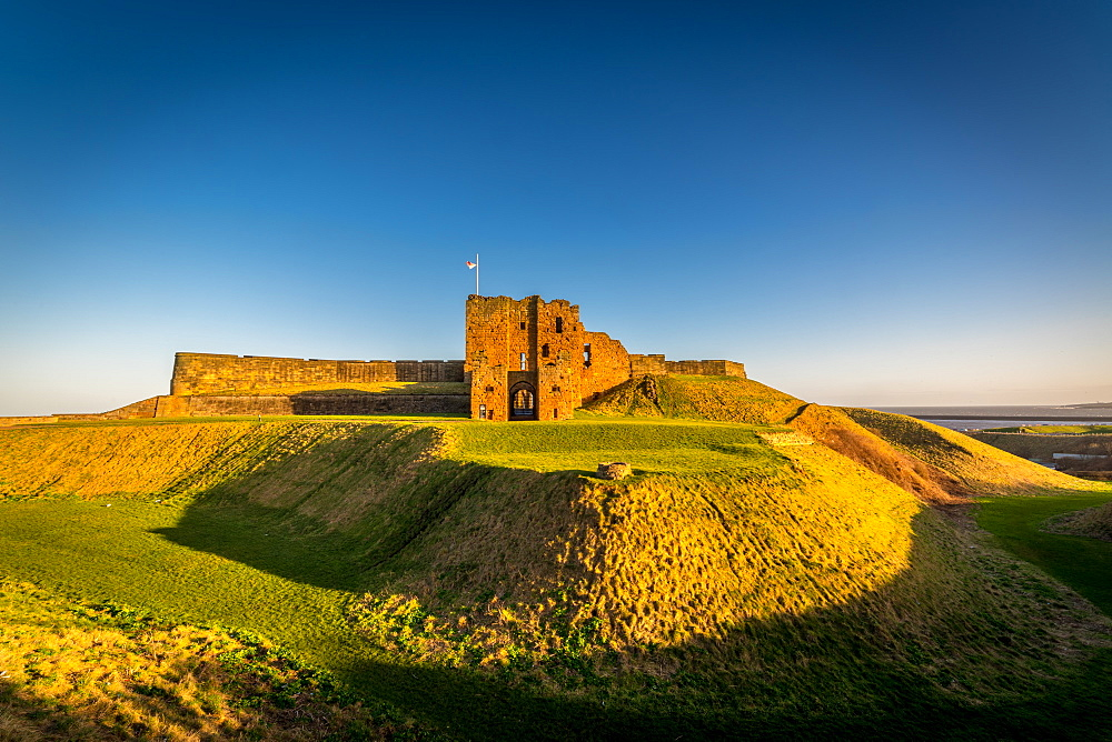 Tynemouth Castle, Tynemouth. Late afternoon.