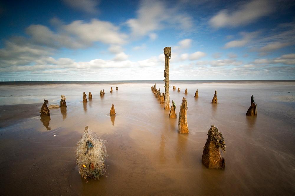 Spurn Point, Spurn Head, Groynes, Yorkshire, England, United Kingdom, Europe - 1209-32