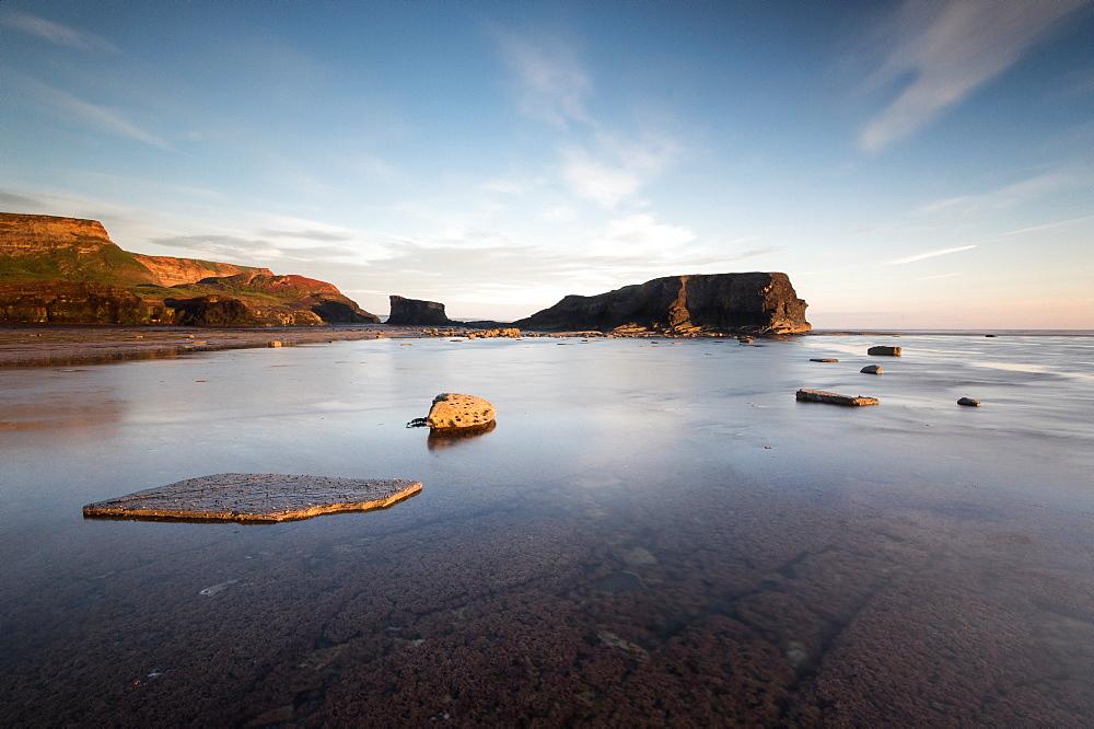 Saltwick Nab, Saltwick Bay, sunrise, Yorkshire, England, United Kingdom, Europe - 1209-38