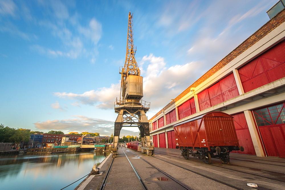 The Old Electric Cranes, Harbourside, Bristol, England, United Kingdom, Europe - 1209-49