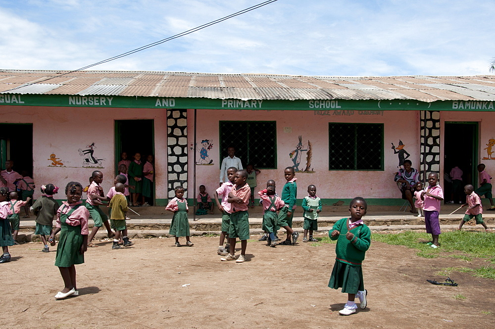 Primary school playtime, Ndop District, Cameroon, Africa