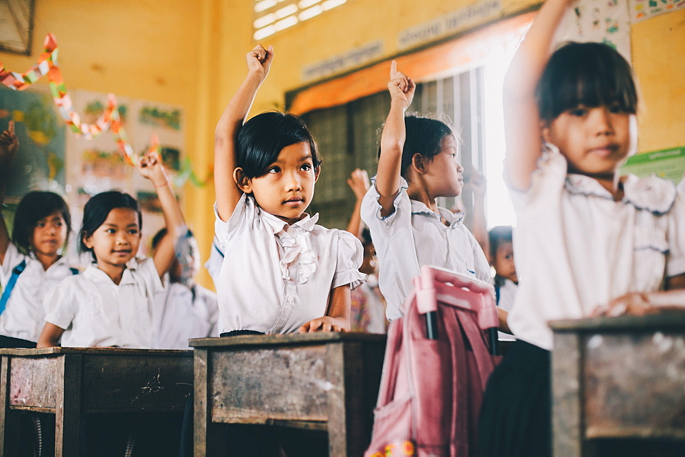 Primary school, Pong Teuk, Cambodia, Indochina, Southeast Asia, Asia - 1211-40