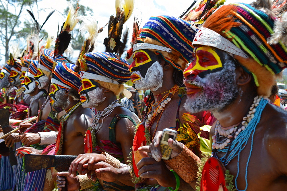 Highlands singsing performers at the Goroka show in Papua New Guinea, Pacific - 1211-57