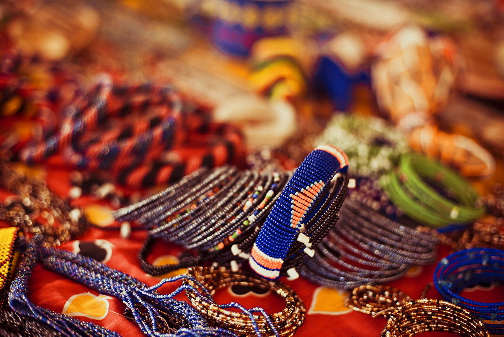 Detail of the beadworks created by the women groups in Kenya, East Africa, Africa