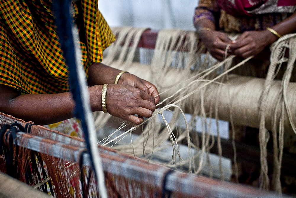 Innovative rug factories have brought small-scale factories to rural Bangladesh, Asia - 1211-74