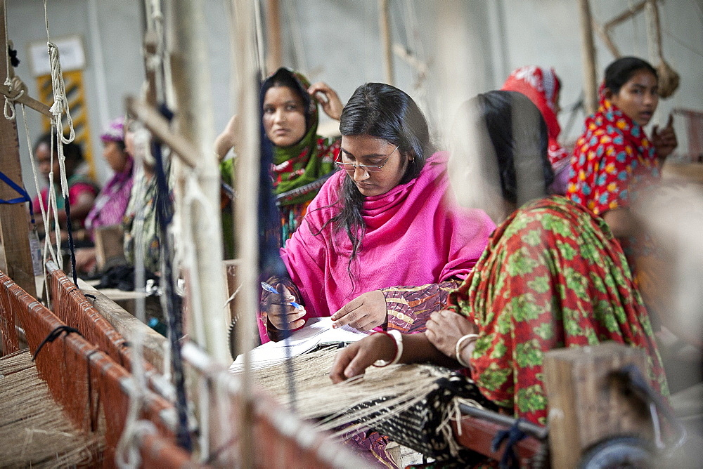 Innovative rug factories have brought small-scale factories to rural Bangladesh, Asia - 1211-75