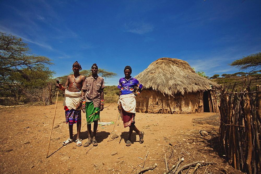 Maasai village, Kenya, East Africa, Africa